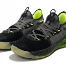 Men's Under Armour Curry 6 Basketball Shoes Black Fluorescent Green