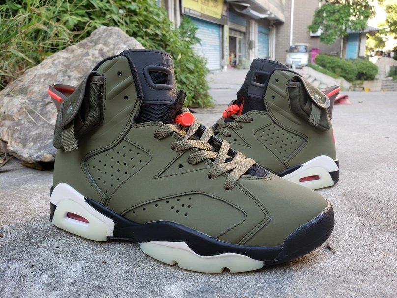 Men's Travis Scott x Air Jordan 6 AJ6TS 3M Shoes