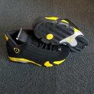 Unisex Air Jordan 14 Retro Black Yellow Sneakers Basketball Shoes