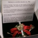 French Horn Musical Pin with original box by Avon