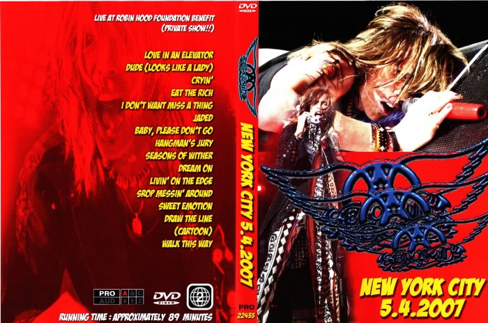 Aerosmitrh Private Show DVD 2007