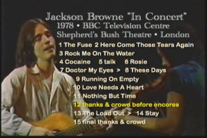 Jackson Browne BBC 1978 With David Lindley