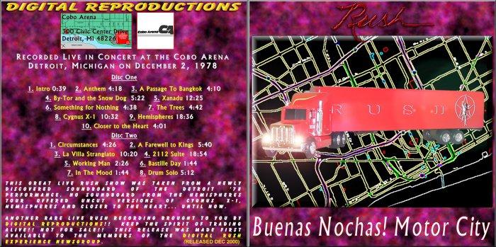 Rush Buenas Nochas! Motor City 1978