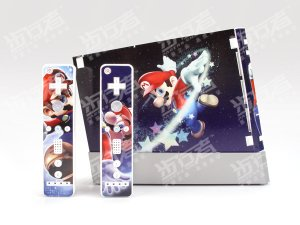 Nintendo Wii VINYL SKIN Super MARIO Galaxy 02