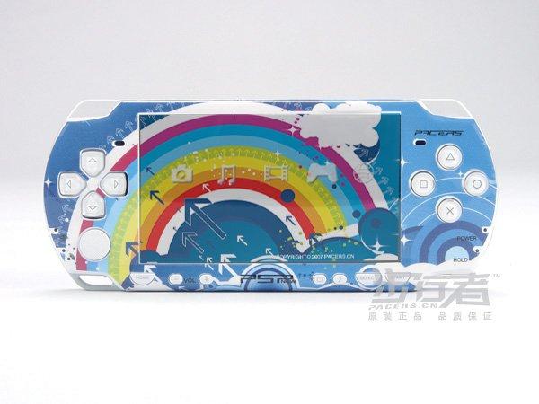 VINYL SKIN for Sony new PSP 2000 Rainbow Blue Theme 18