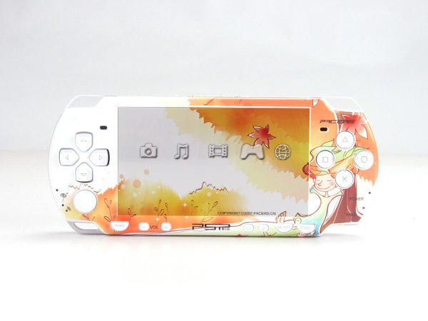 VINYL SKIN for Sony new PSP 2000 Golden Fall 21