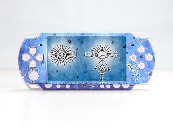 VINYL SKIN for Sony new PSP 2000 Blue Theme 25