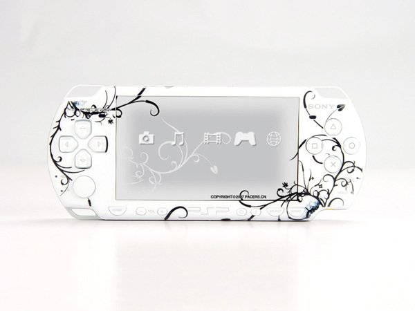 VINYL SKIN for Sony new PSP 2000 White Theme t01