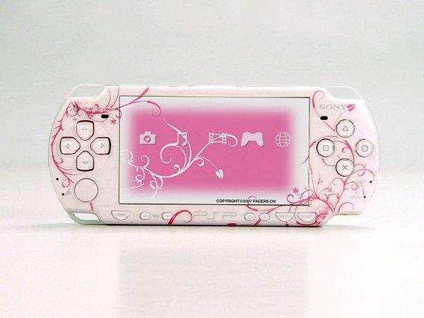 VINYL SKIN for Sony new PSP 2000 Pink Theme t02