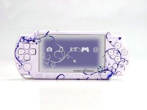 VINYL SKIN for Sony new PSP 2000 Deep Blue Theme t03