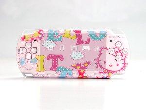 VINYL SKIN for Sony new PSP 2000 Hello Kitty Theme t04