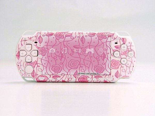 VINYL SKIN for Sony new PSP 2000 Pink Rose Theme t06