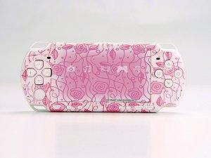 VINYL SKIN for Sony new PSP 2000 Pink Rose Theme t06