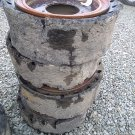 (4) 33x12-20 Solid Tires
