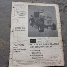 Sears 536.250941 Lawn Tractor Owner's Manual