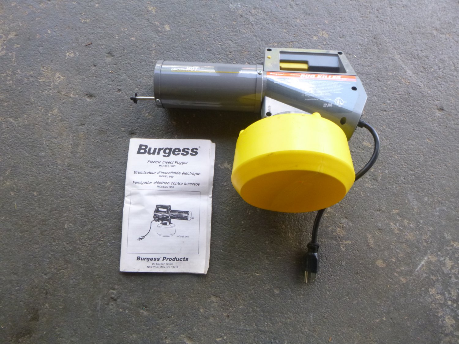 Burgess Model 960 Electric Insect Fogger
