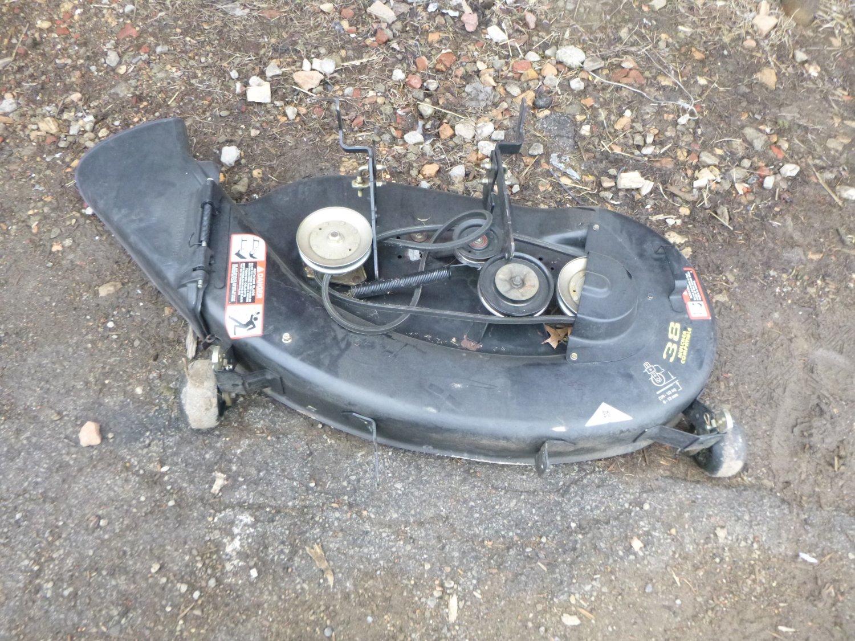 John Deere STX38 Black Mower Deck