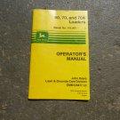 John Deere 60, 70, 70A Loader Operators' Manual OMM120877