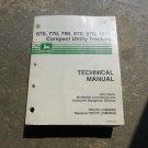John Deere 670, 770, 790, 870, 970, 1070 Compact Utility Tractor Technical  Manual TM1470