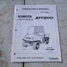 Kubota RTV900 Operator & Maintenance Manual