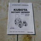 Kubota Rotary Mower Operator & Maintenance Manual