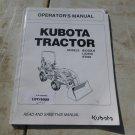 Kubota BX25DLB, LA240A, BT602 Operator & Maintenance Manual