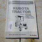 Kubota B2650, B3350  Operator & Maintenance Manual