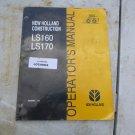 New Holland LS160, LS170 Operators Manual