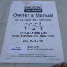 Cub Cadet Model 359 Garden Tractor Mower Deck Owners Manual