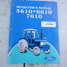 Ford 5610, 6610, 7610 Tractor Operators Manual