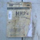 Komatsu D41F,P-6 Dozer Operator & Maintenance Manual