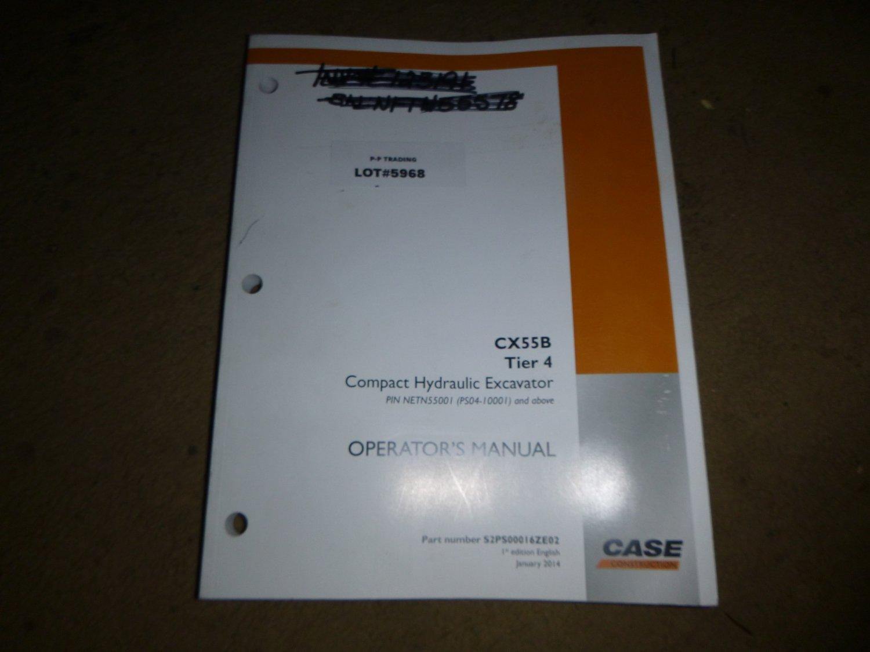 Case CX55B tier 4 Operators Manual