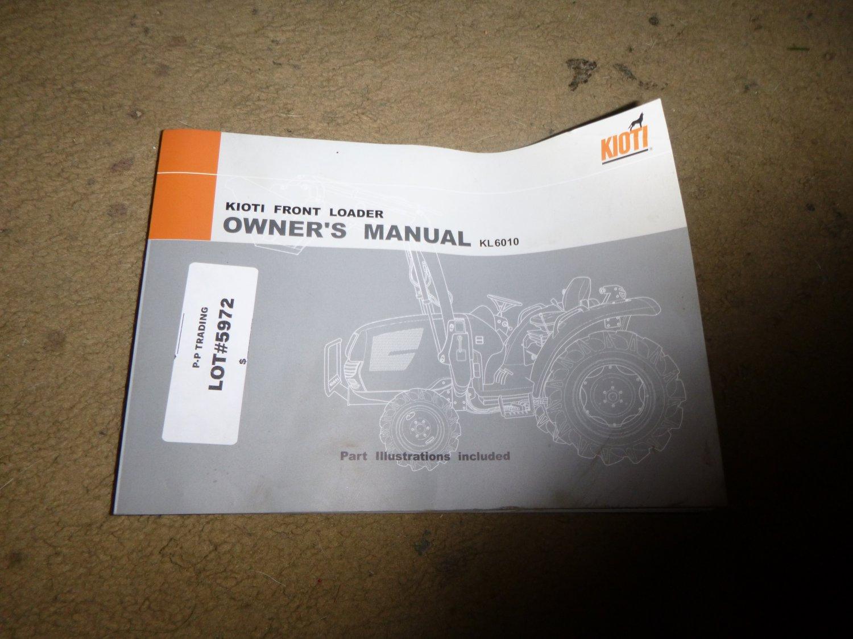Kioti KL6010 Front Loader Owners Manual