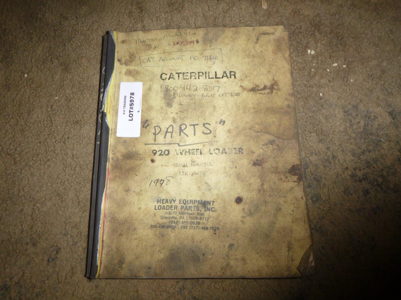 Caterpillar 920 Wheel Loader Parts Manual