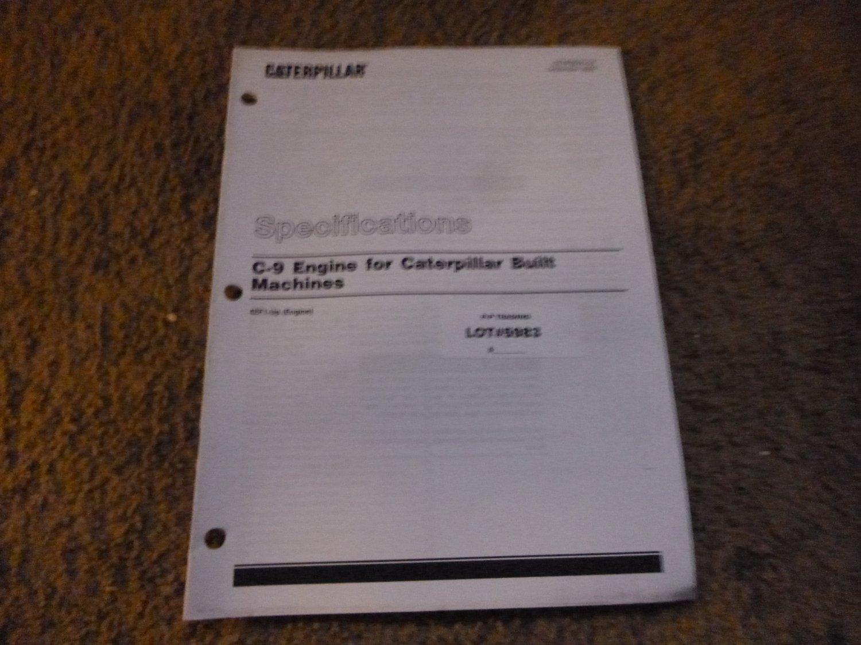 Caterpillar C-9 Engine Specifications Manual