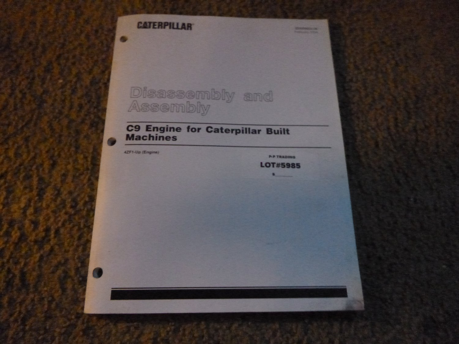 Caterpillar C-9 Engine Disassembly & Assembly Manual