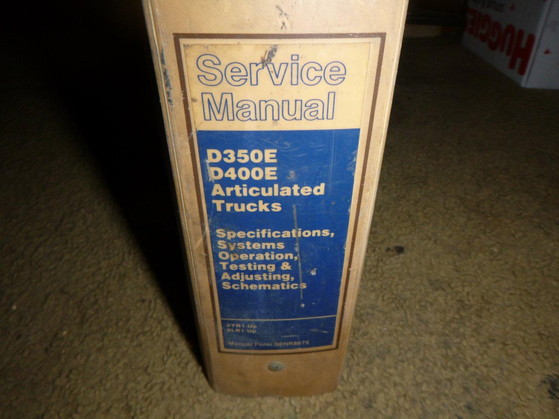 Caterpillar D350E, D400E Service Manual