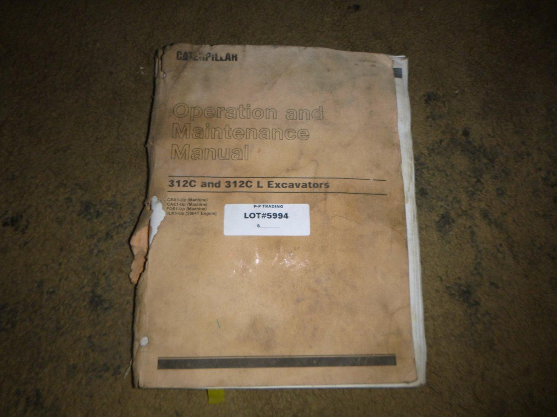 Caterpillar 312C, 312C L Excavator Operators Manual