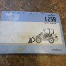 Volvo L25B Wheel Loader Parts Catalog Manual
