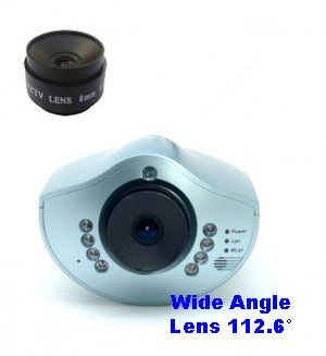 Day & Night IP Networking Camera - CIC-901L + Wide Angle Lens 112.6°