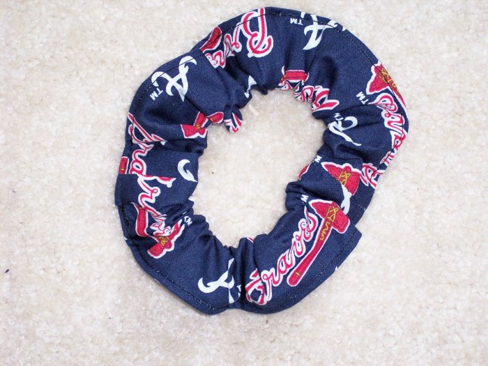 Atlanta Braves Baseball Fabric Hair Scrunchie Scrunchies MLB