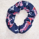 Atlanta Braves Baseball Fabric Hair Scrunchie Scrunchies by Sherry MLB