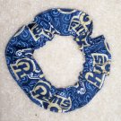 St louis Rams fooball Fabric Hair Scrunchie Scrunchies by Sherry NFL