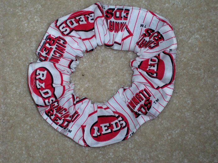 Cincinnati Reds Baseball Fabric Hair Scrunchie Scrunchies MLB