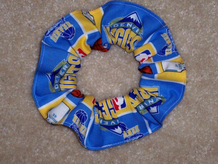 Devner Nuggets Basketball Fabric hair Scrunchie Scrunchies NBA