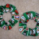 Boston Celtics Basketball Fabric Hair Scrunchie Scrunchies NBA