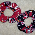Miami Heat Basketball Fabric Hair Scrunchie Scrunchies NBA