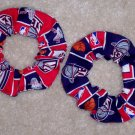 New Jersey Nets Basketball Fabric Hair Scrunchie Scrunchies by Sherry NBA