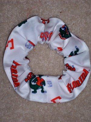 Florida Gators College New White Fabric hair Scrunchie Scrunchies NCAA