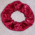 Red Metallic Foil Glitter Knit Fabric Hair Scrunchie Scrunchies